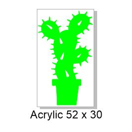 Cactus Acrylic 50x30mm  pack of5